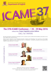 ICAME 37 poster